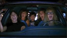 Wayne's World singing in car